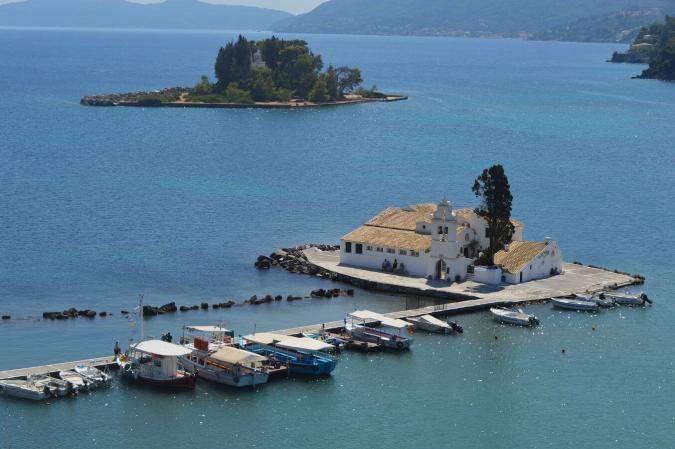 Mouse island/Vlaherna, Corfu Town